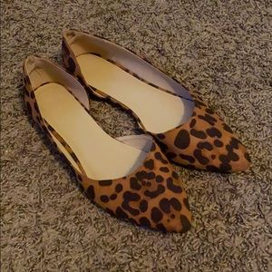 Leopard Animal Print Pointed Toe Flats